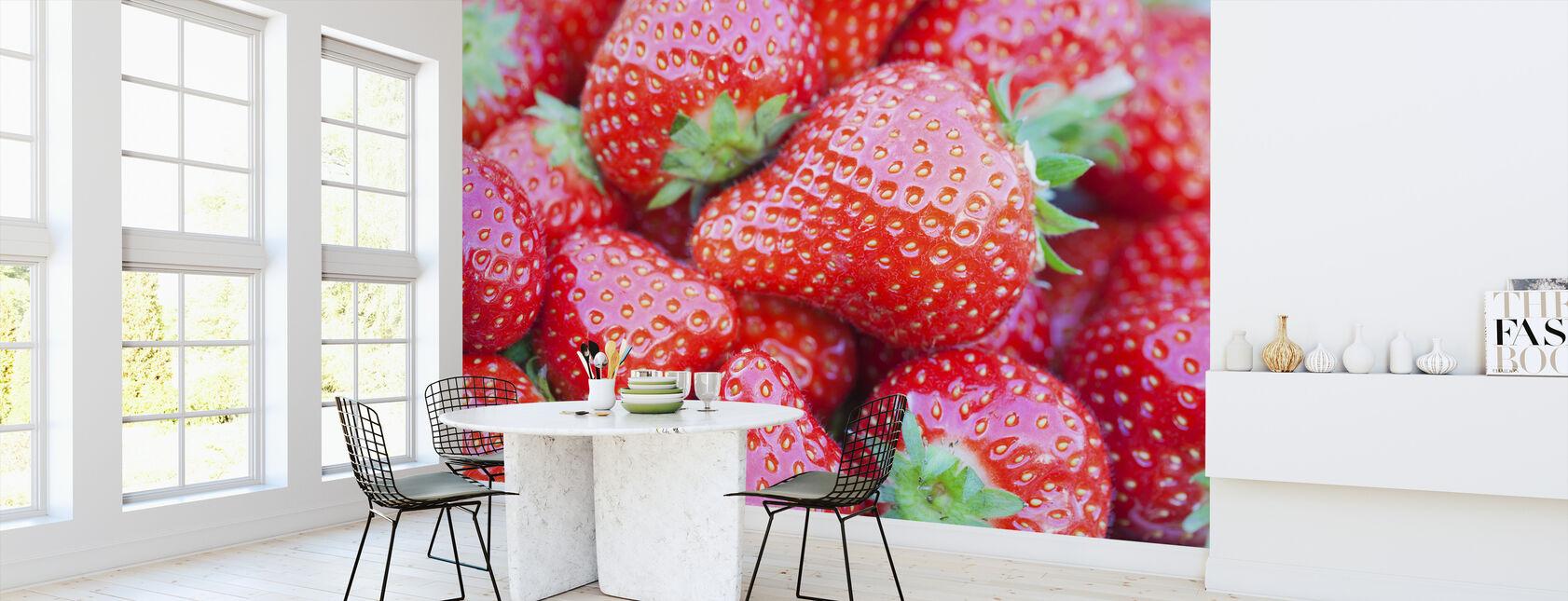 Jordbær - Tapet - Kjøkken