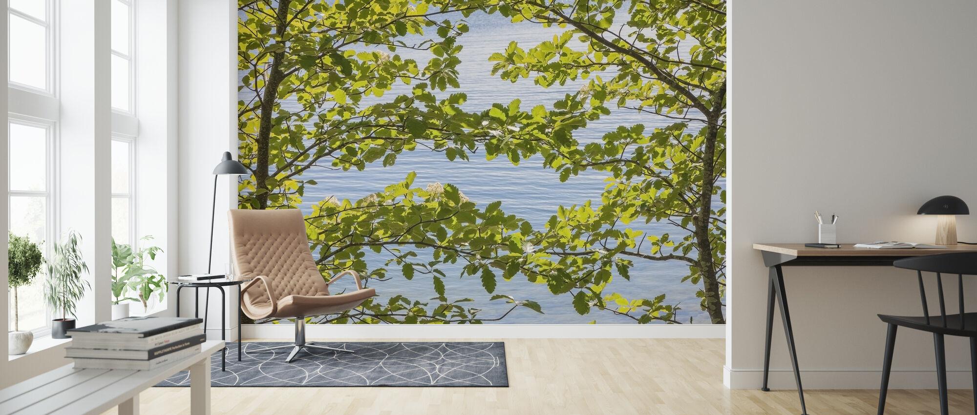Green Leaves - Wallpaper - Living Room
