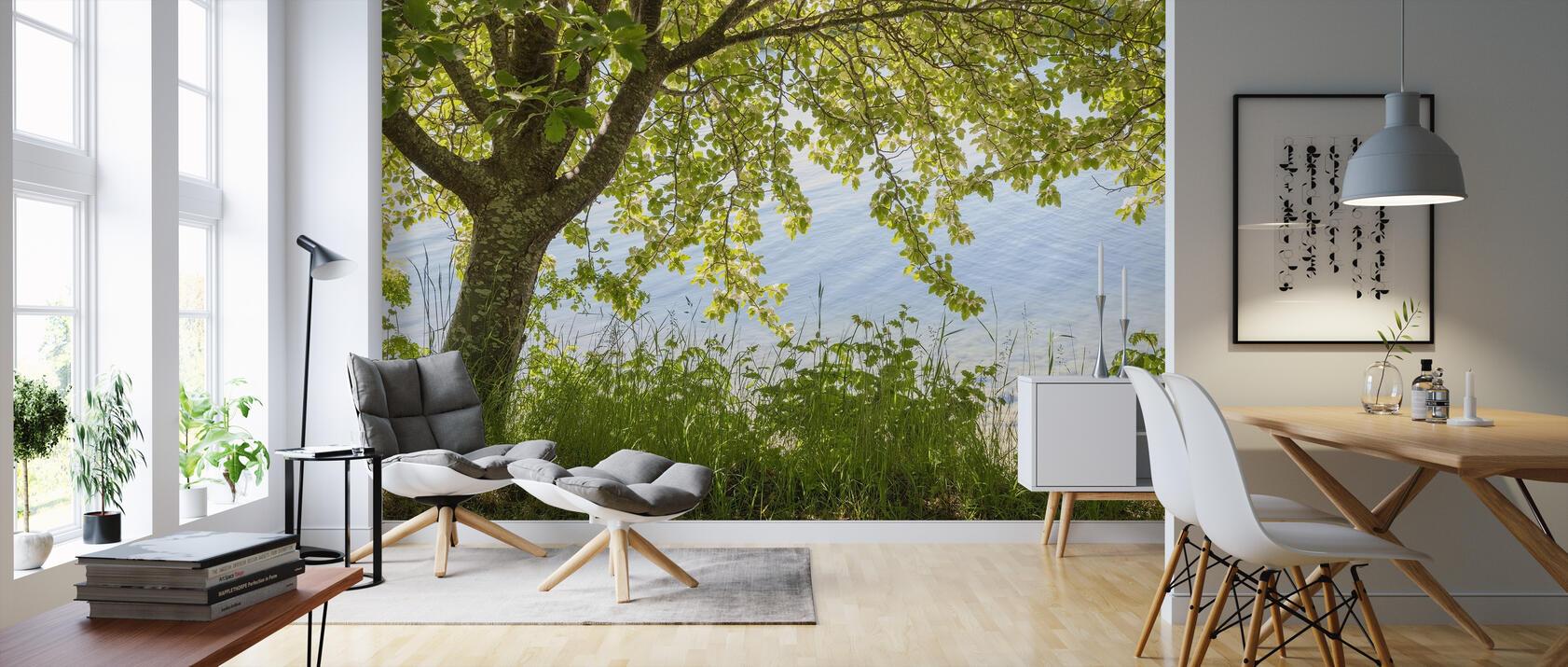 spring tree preiswerte fototapete photowall. Black Bedroom Furniture Sets. Home Design Ideas