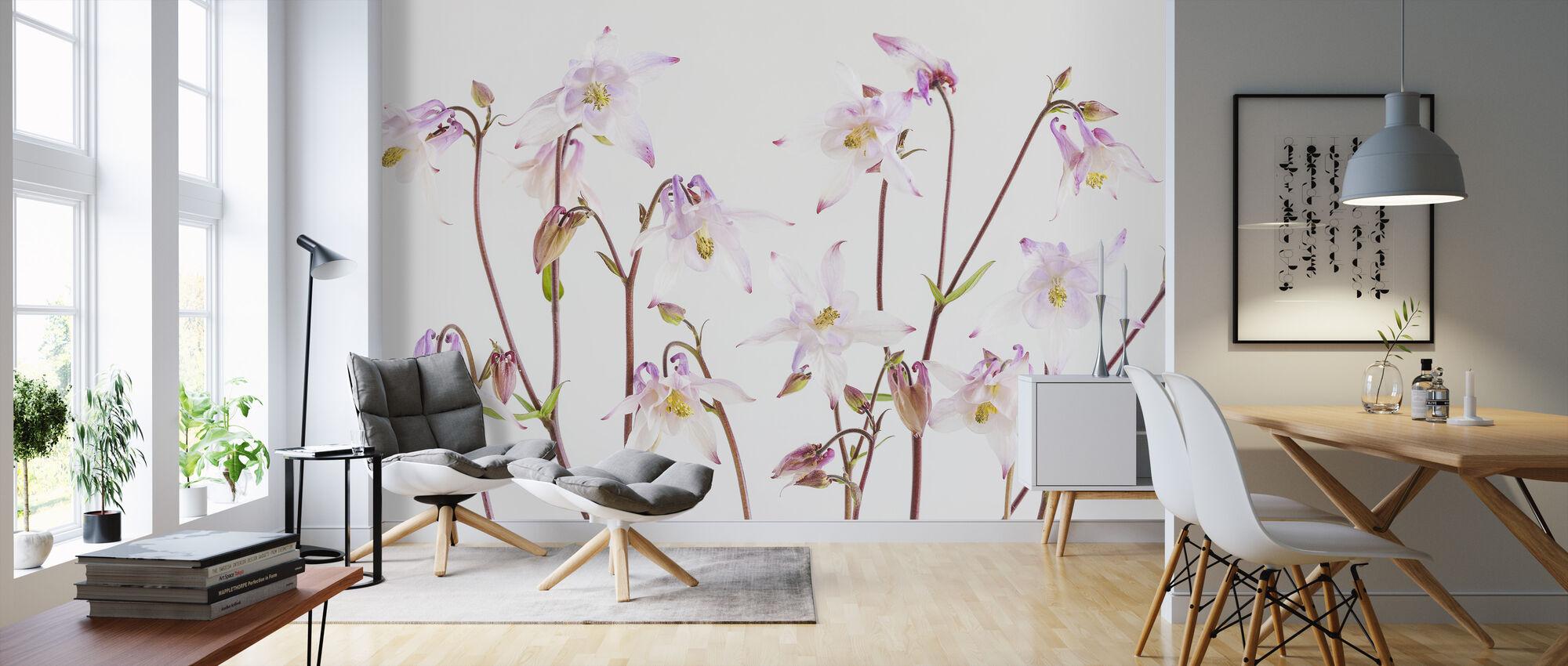 Aquilegia - Wallpaper - Living Room