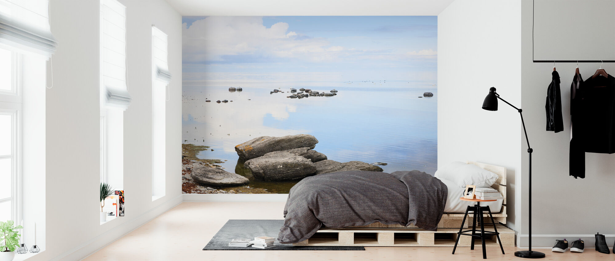 Sunny day at the coast of Gotland - Wallpaper - Bedroom