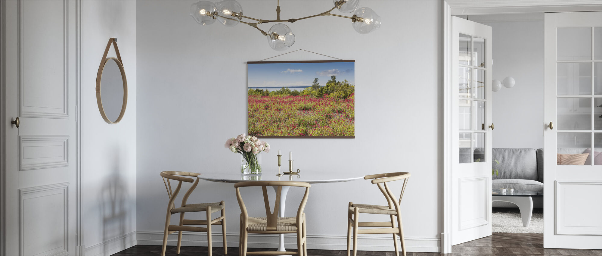 Red Flowers Meadow - Poster - Kitchen