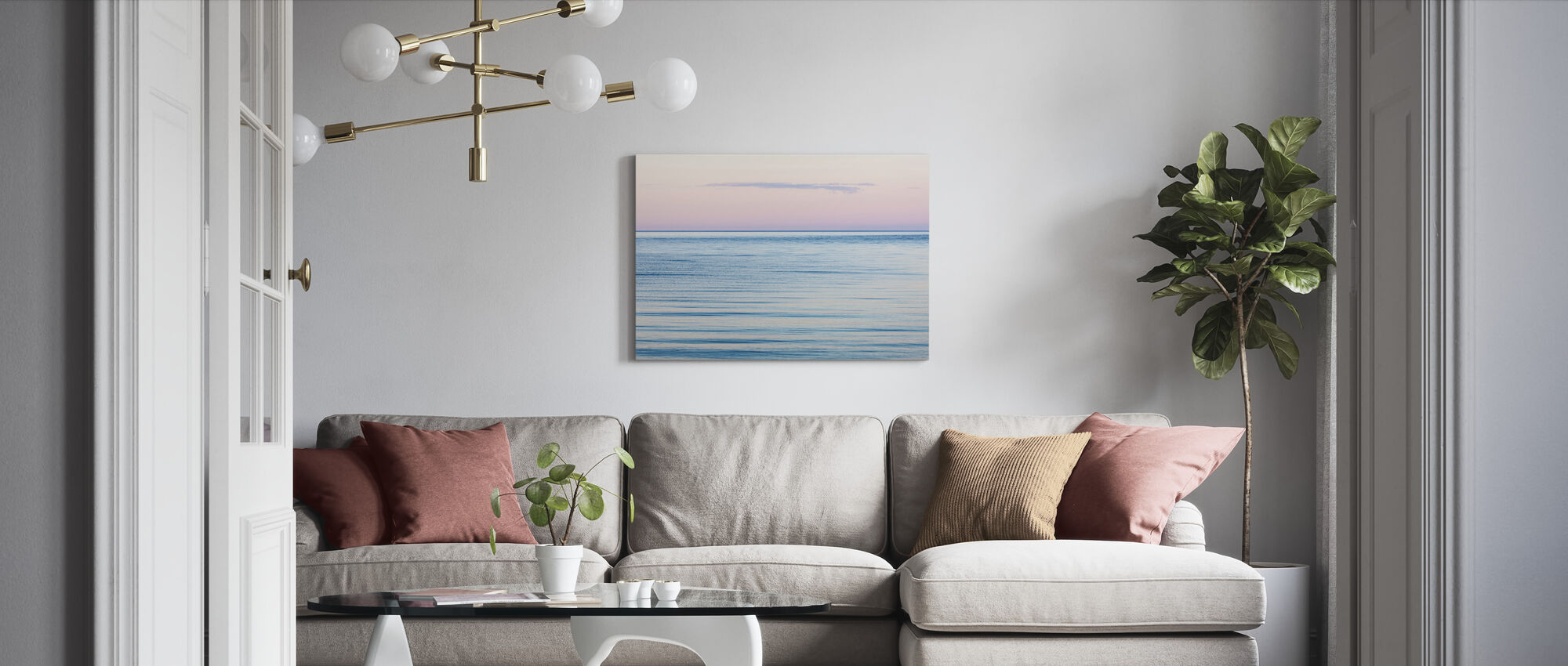Pink and Blue Dream - Canvas print - Living Room