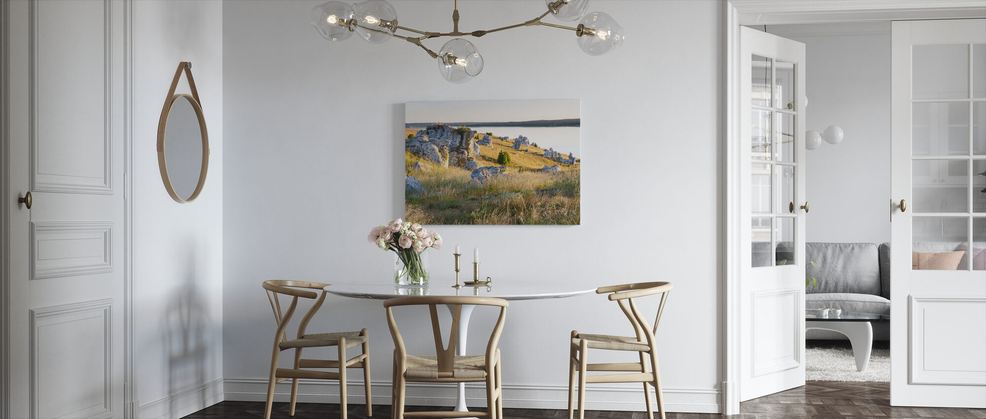 Nice Lights over the Rocks - Canvas print - Kitchen