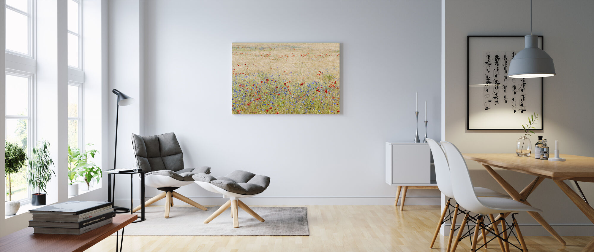 Rye Field with Flowers - Canvas print - Living Room