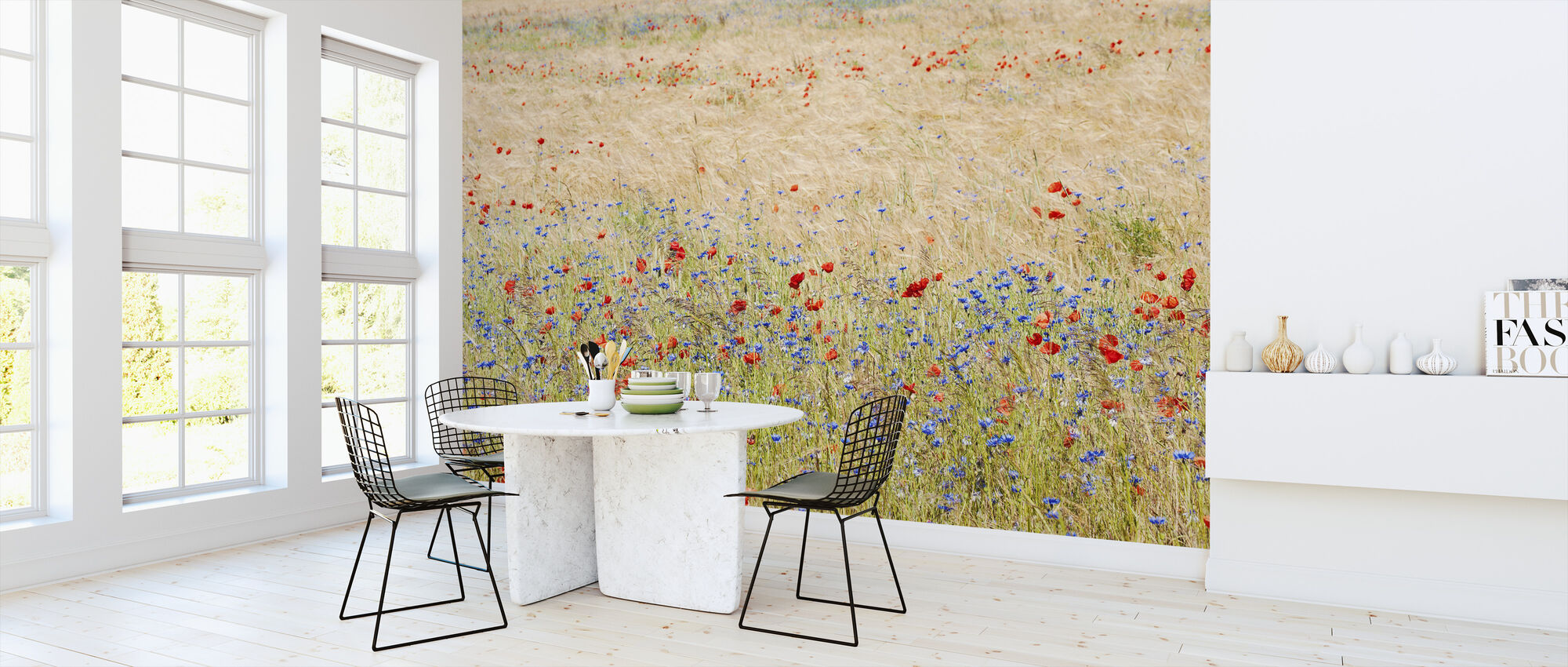 Rye Field with Flowers - Wallpaper - Kitchen