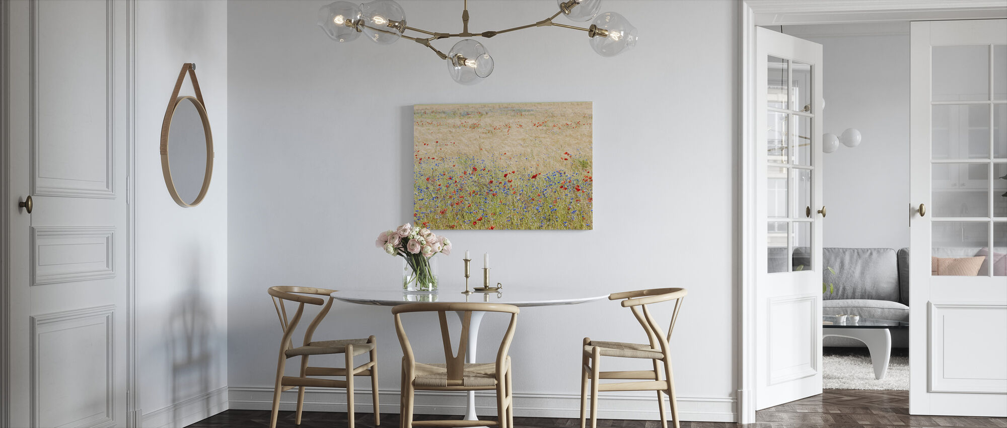 Rye Field with Flowers - Canvas print - Kitchen