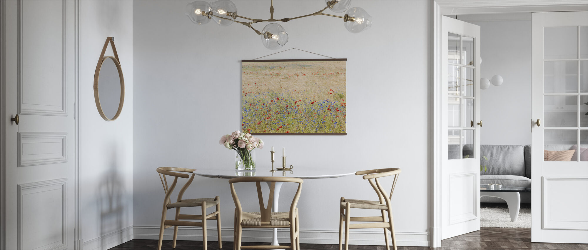 Rye Field with Flowers - Poster - Kitchen