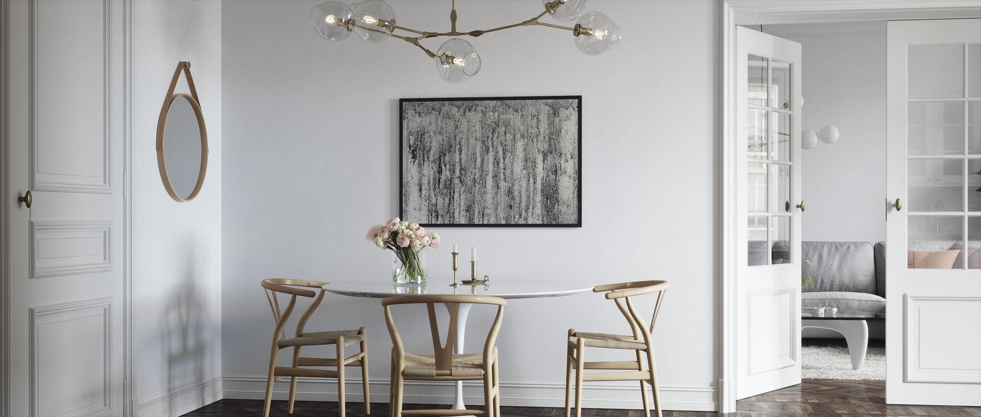 Sement Vegg - Innrammet bilde - Kjøkken