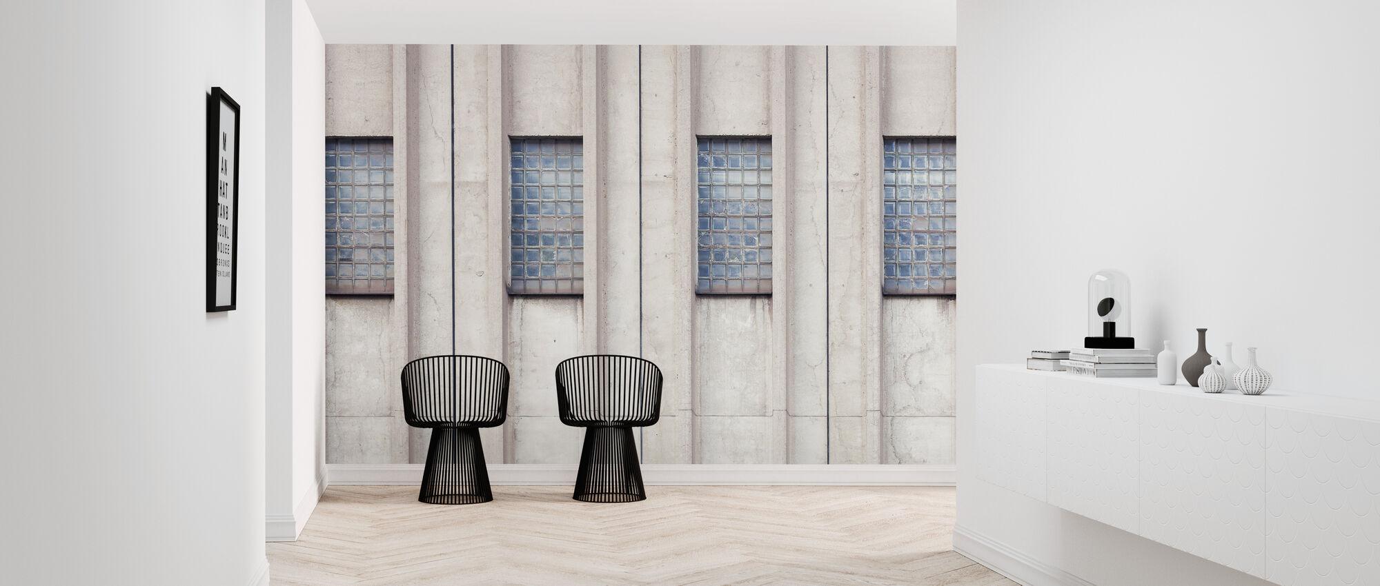 Beton i stare szkło - Tapeta - Przedpokój