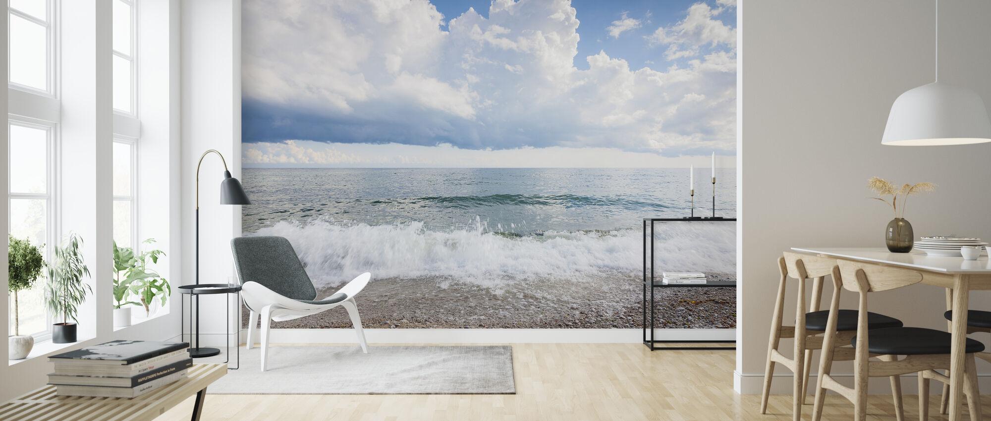 White Waves - Wallpaper - Living Room