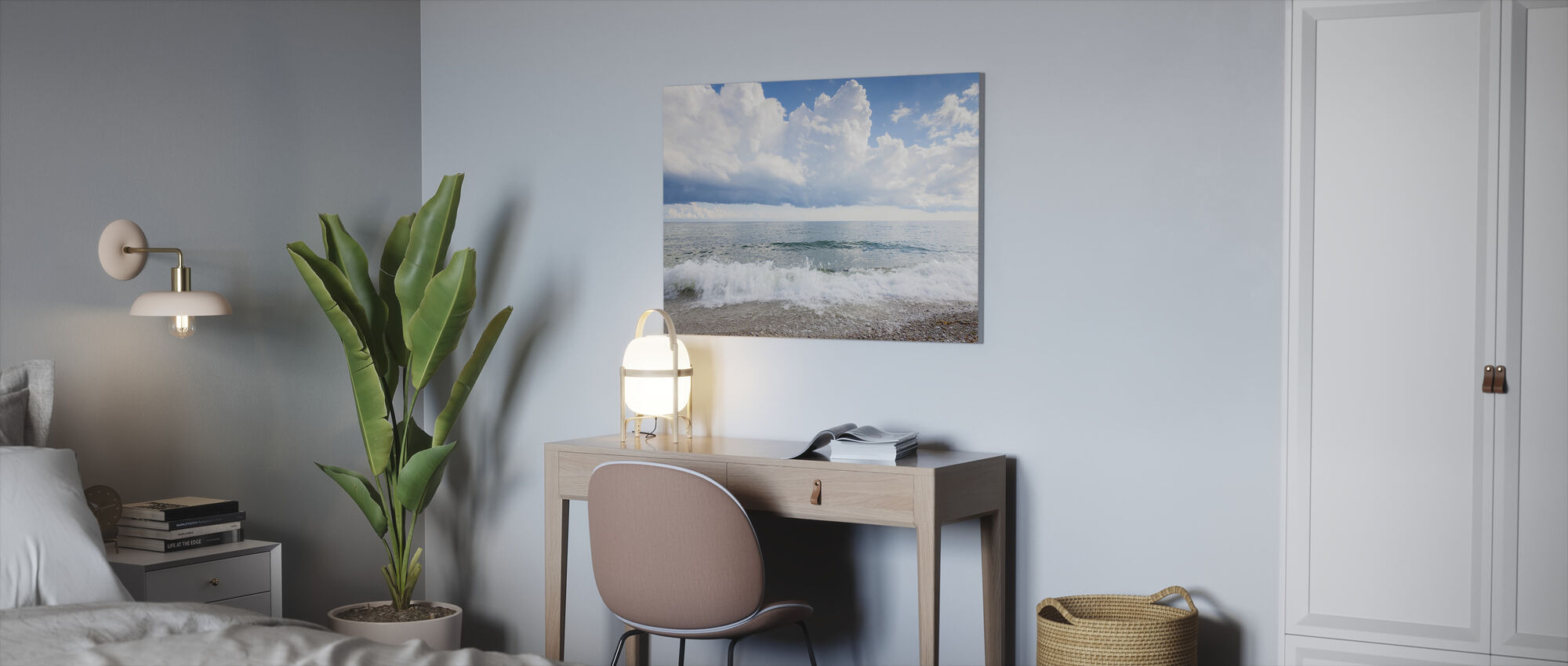 White Waves - Canvas print - Office