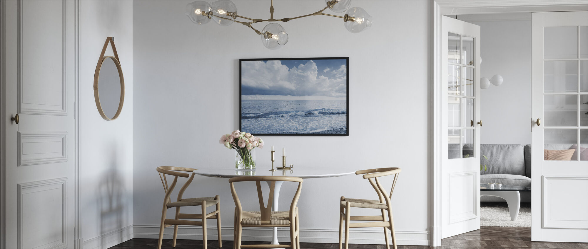 Sea and Dramatic Clouds - Framed print - Kitchen