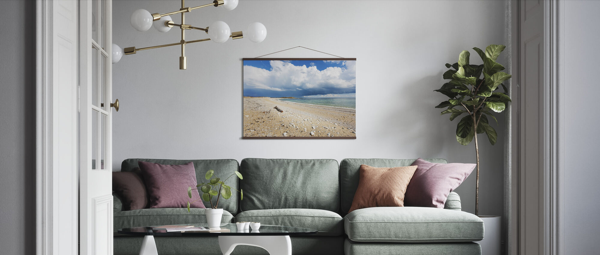 Dramatic Clouds on the Sea - Poster - Living Room