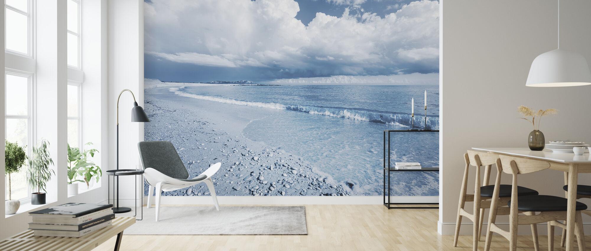Blå havet med dramatiska moln - Tapet - Vardagsrum
