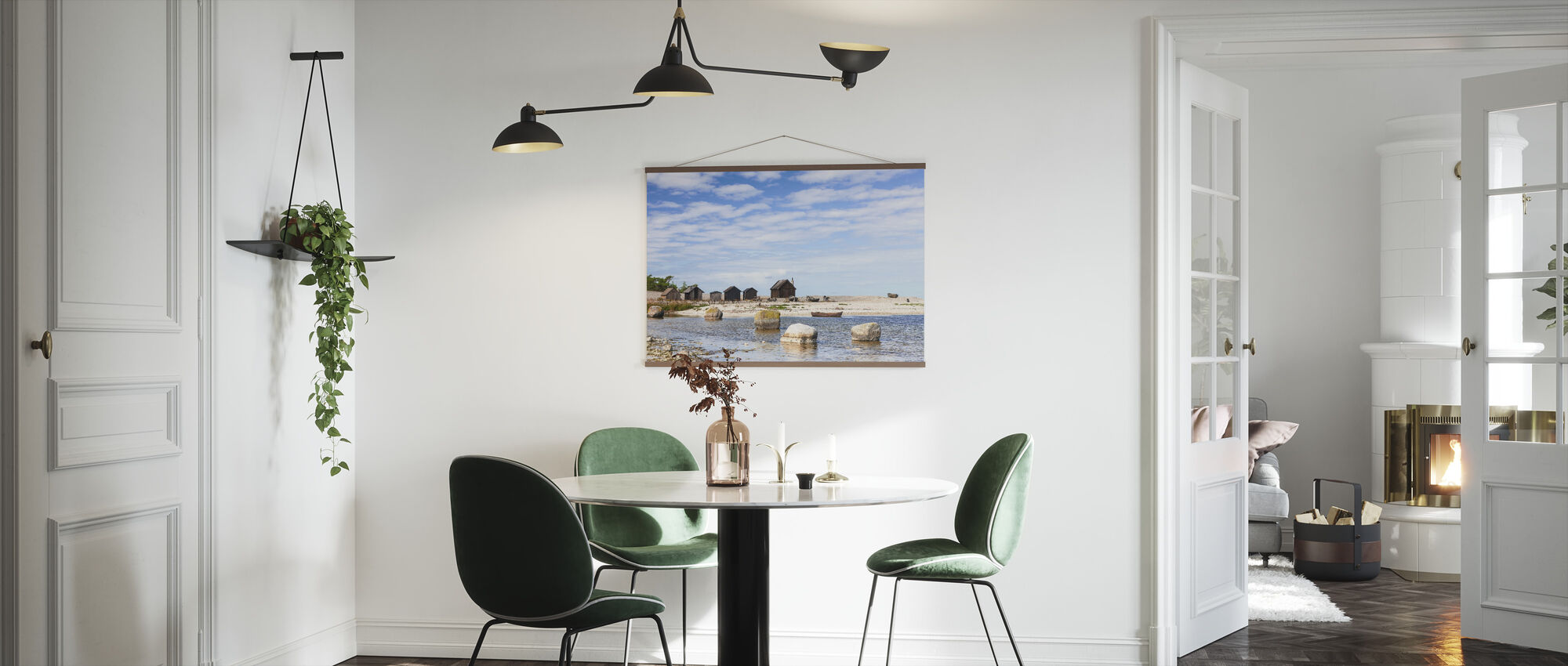 Old Fishing Huts - Poster - Kitchen