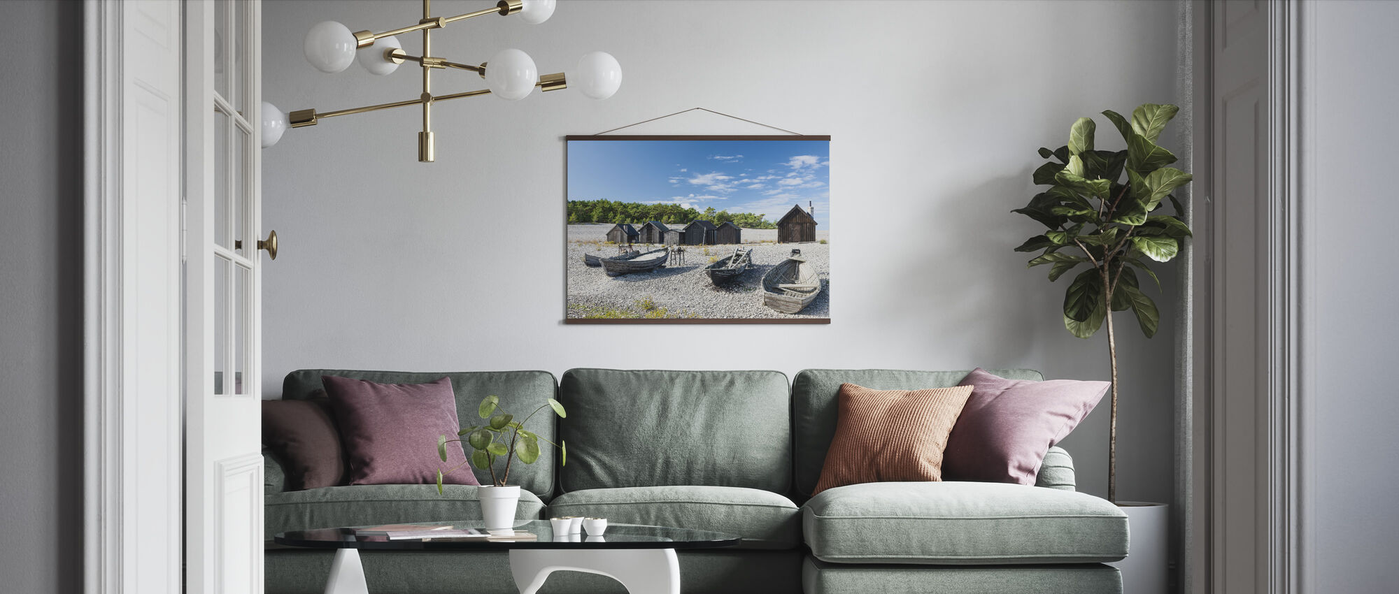 Beautiful Fishing Village - Poster - Living Room