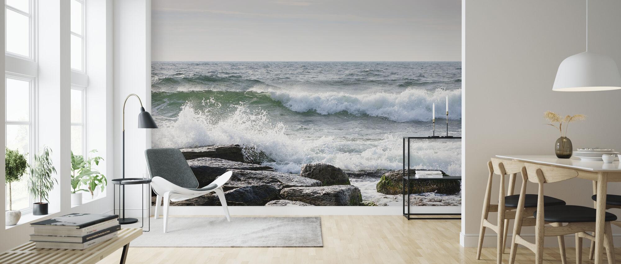 Breakers - Wallpaper - Living Room