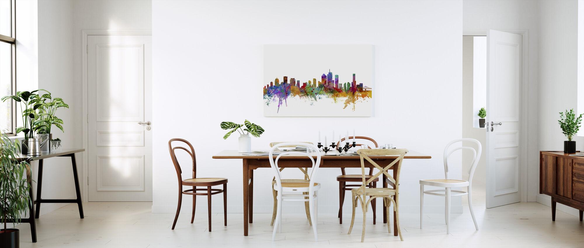 Skyline van Brisbane - Canvas print - Keuken