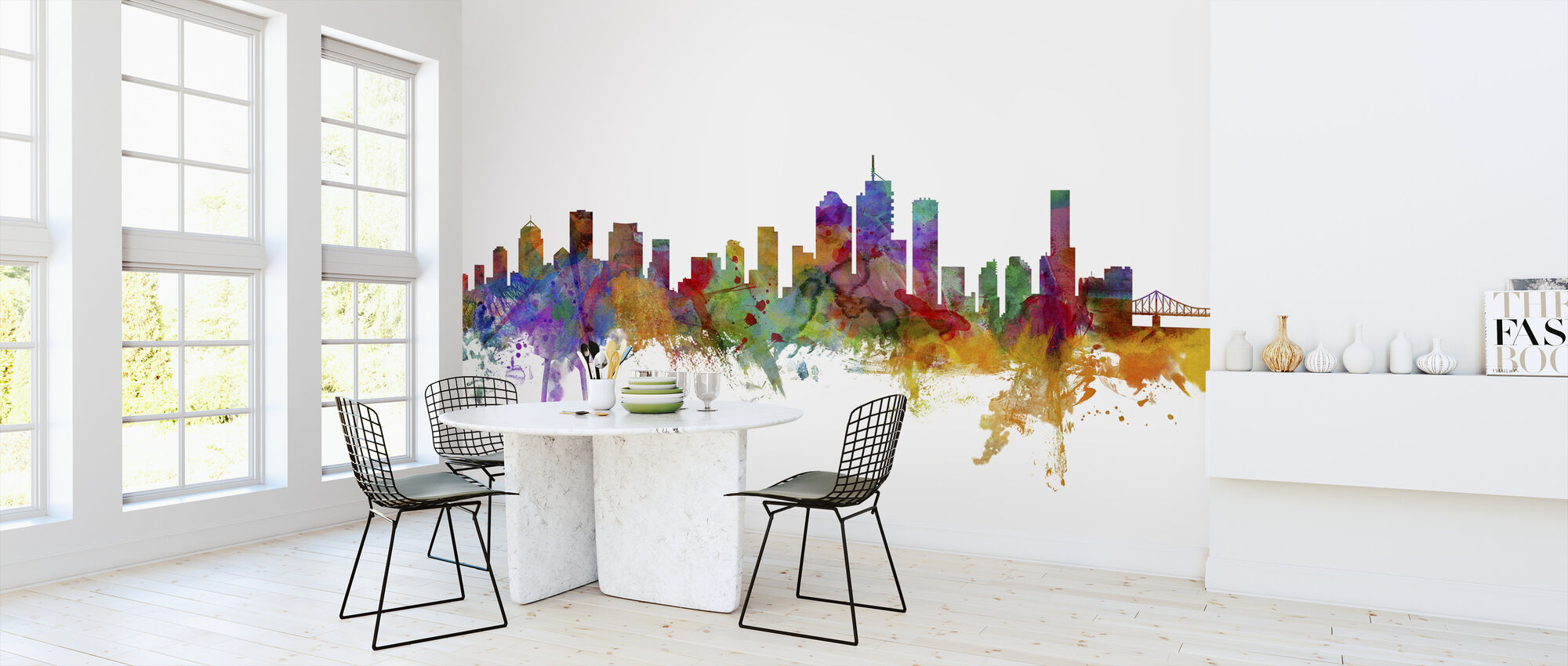 Brisbane Skyline - Wallpaper - Kitchen