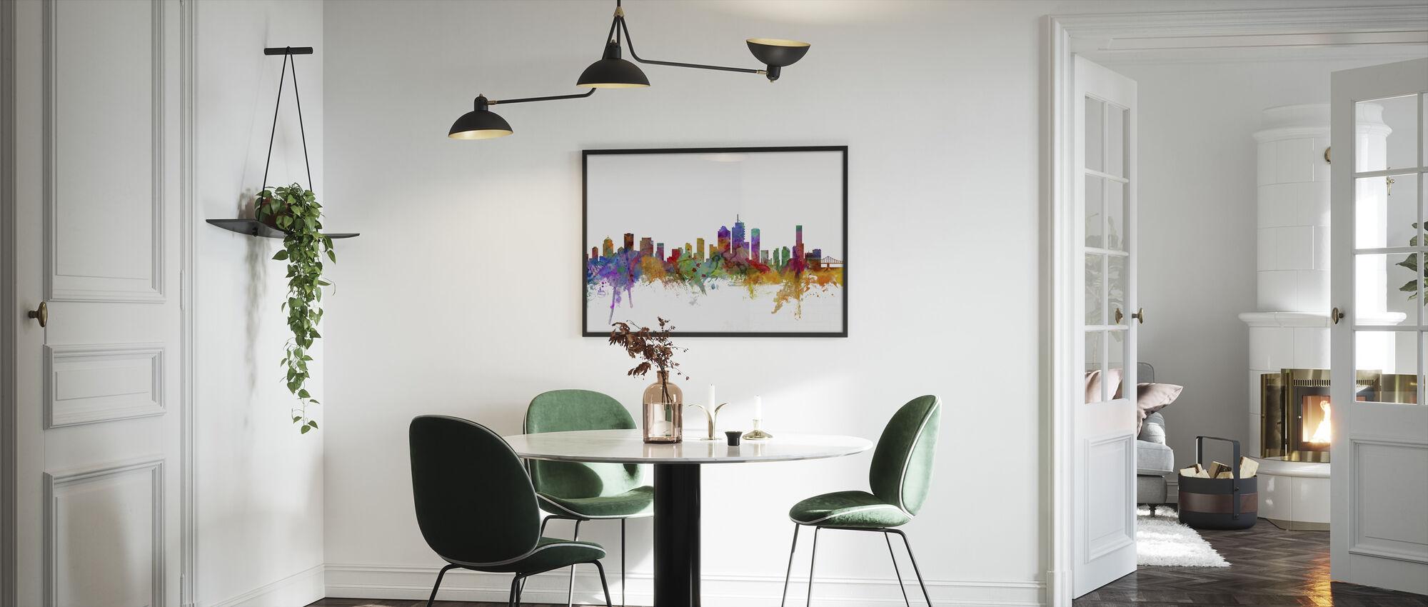 Brisbane Skyline - Framed print - Kitchen