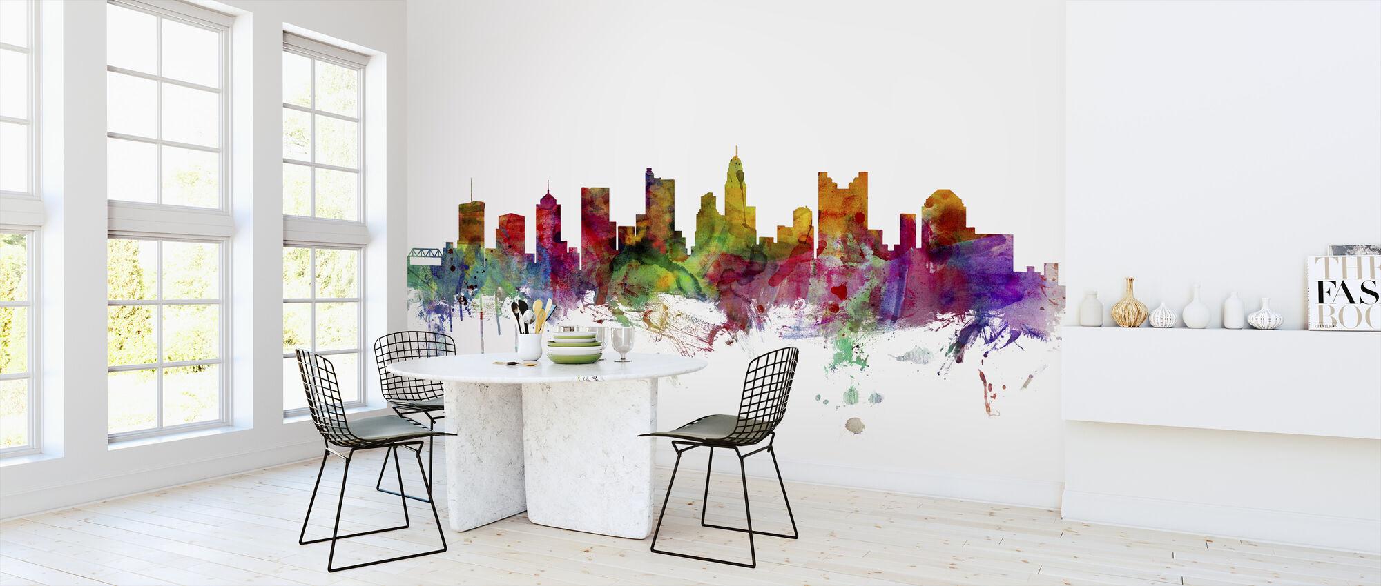 Columbus Ohio Skyline - Wallpaper - Kitchen