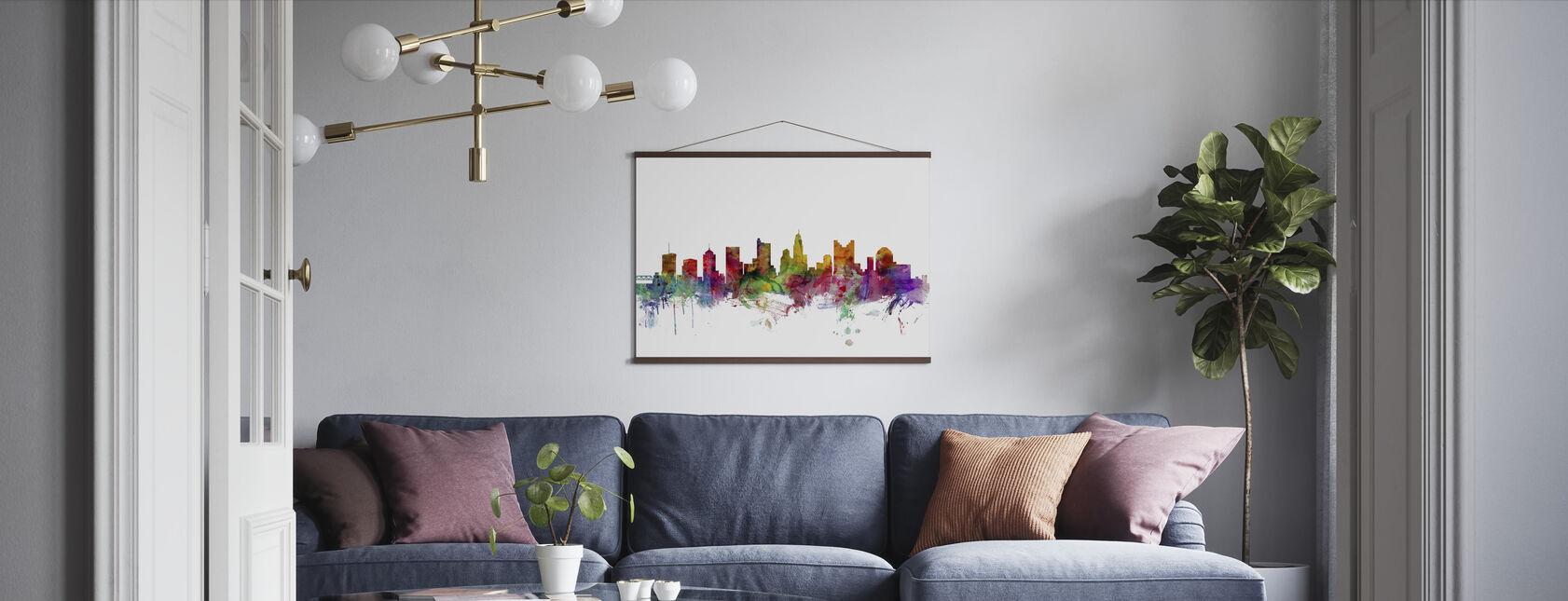Columbus Ohio Skyline - Poster - Living Room