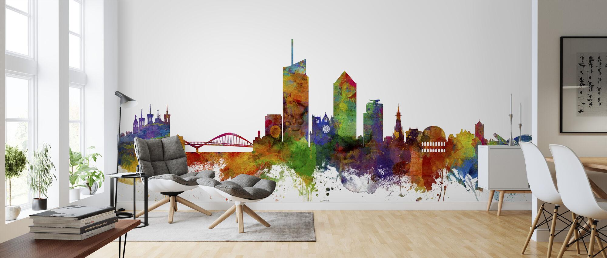 Lyon Skyline - Wallpaper - Living Room