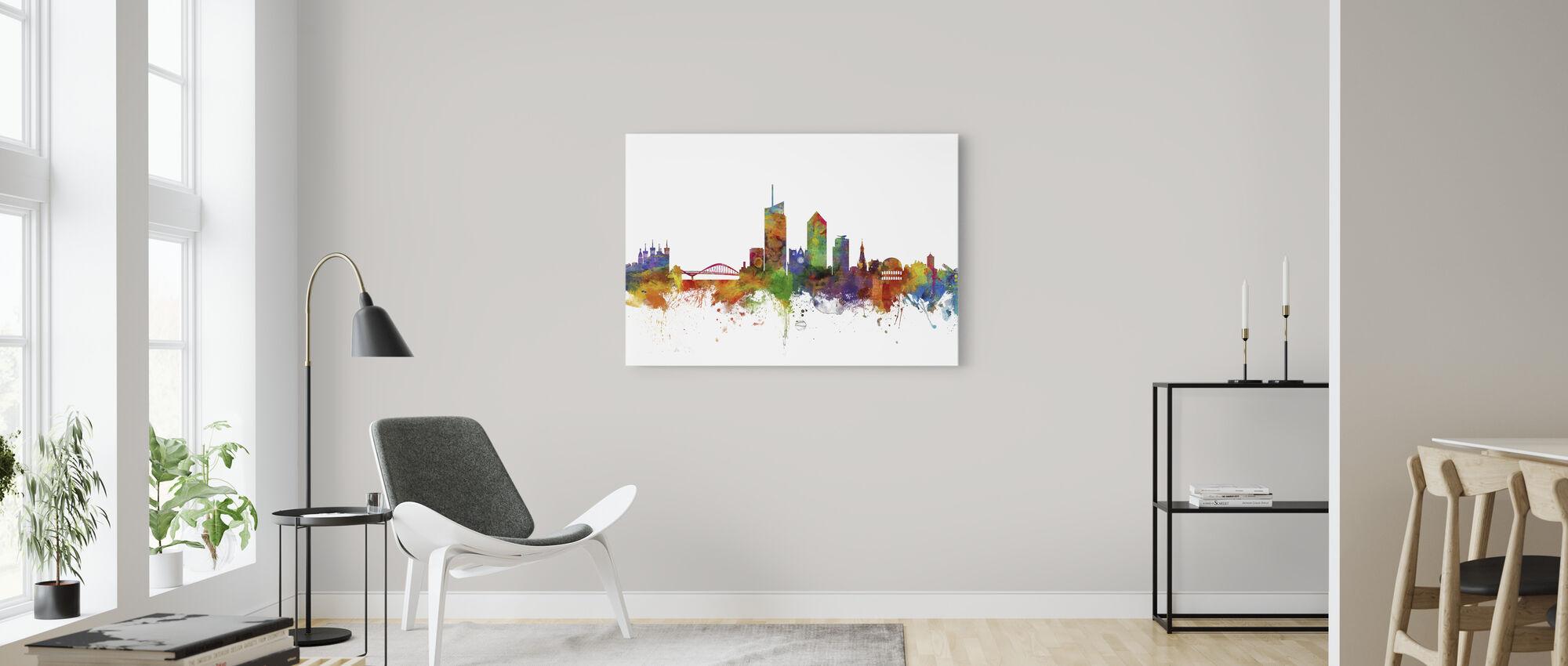 Skyline de Lyon - Impression sur toile - Salle à manger
