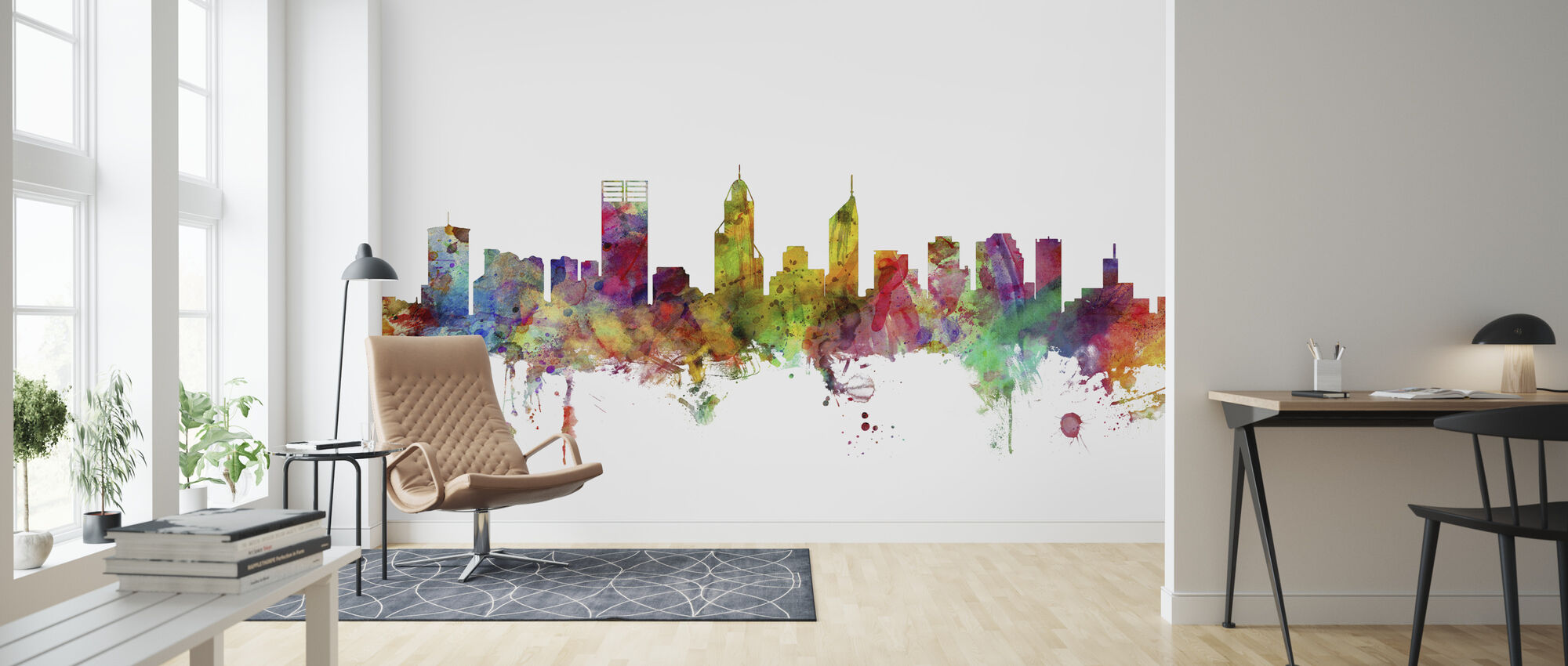 Perth Skyline - Wallpaper - Living Room