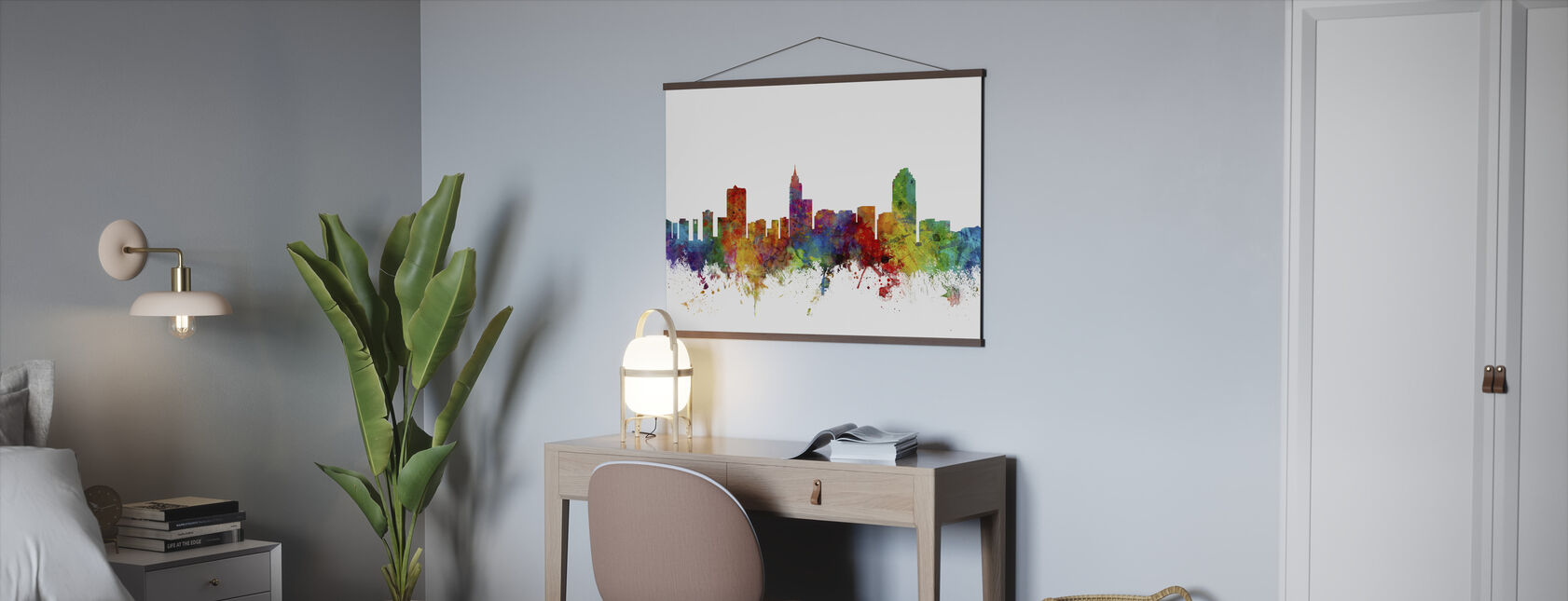 Raleigh North Carolina Skyline - Poster - Office