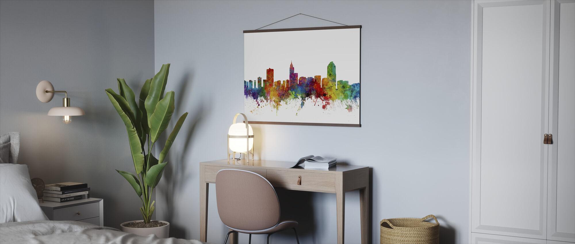 Raleigh North Carolina Skyline - Poster - Büro