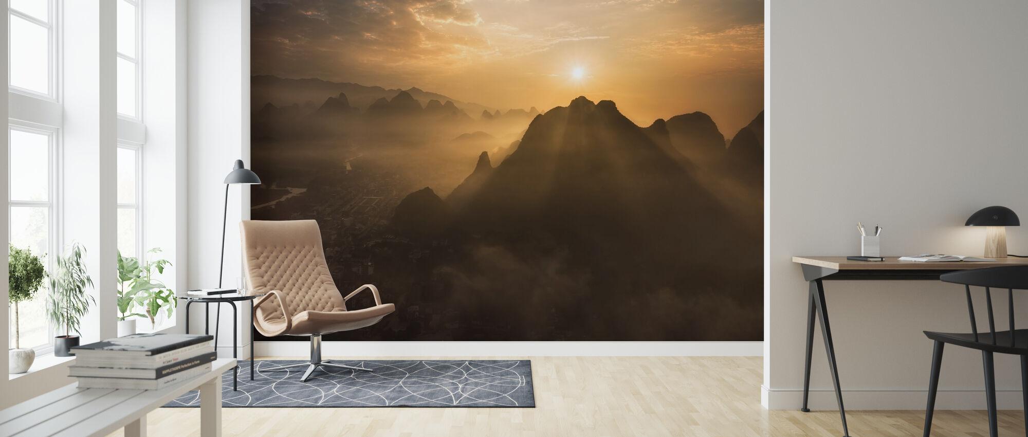 Misty Sunrise - Wallpaper - Living Room