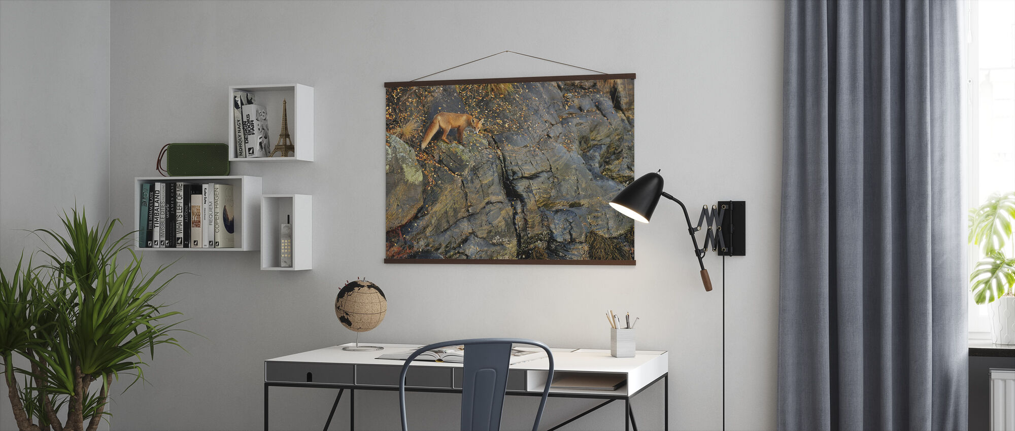 Fox on the Rocks - Poster - Office