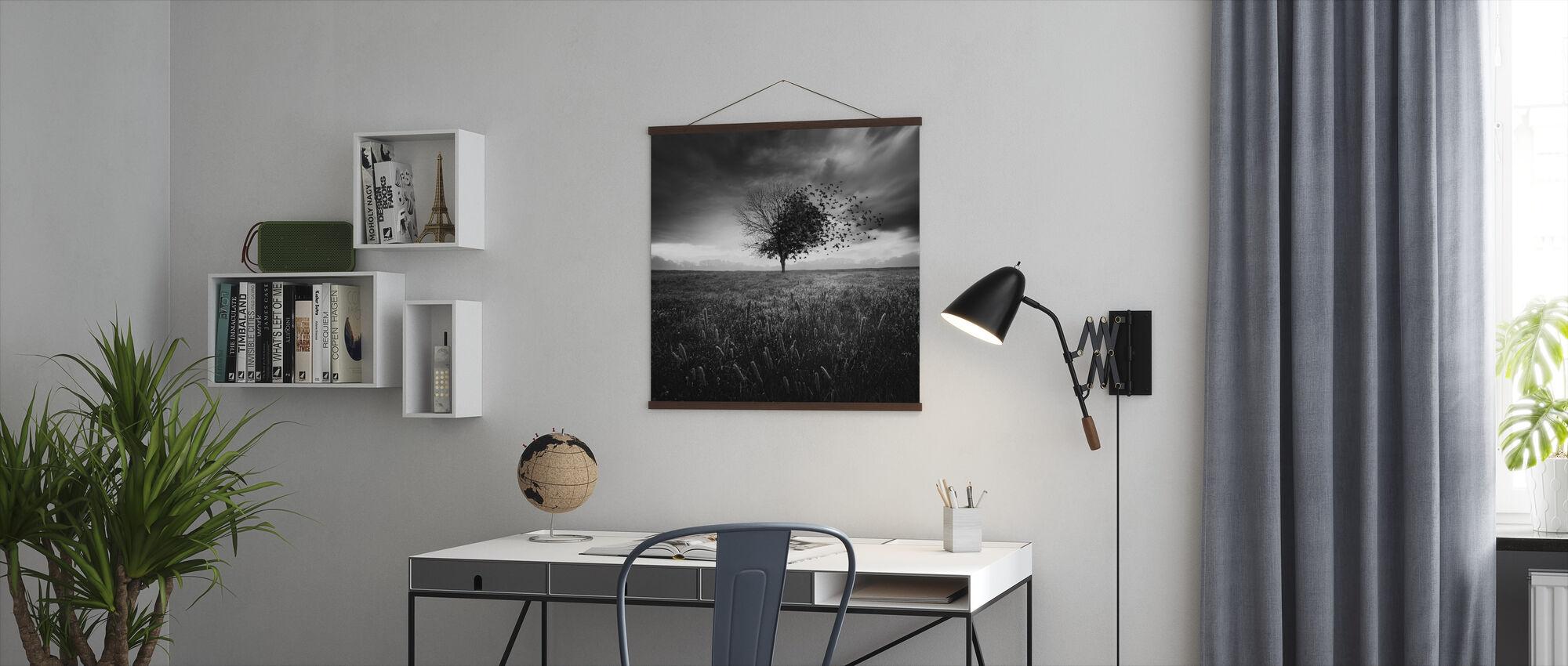 Illusie van een verloren veer - Poster - Kantoor