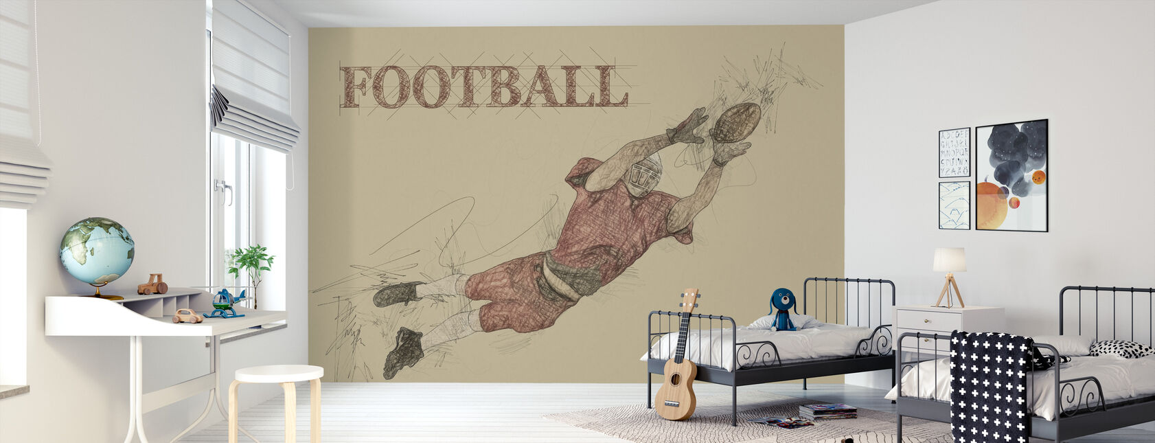 Football - Wallpaper - Kids Room