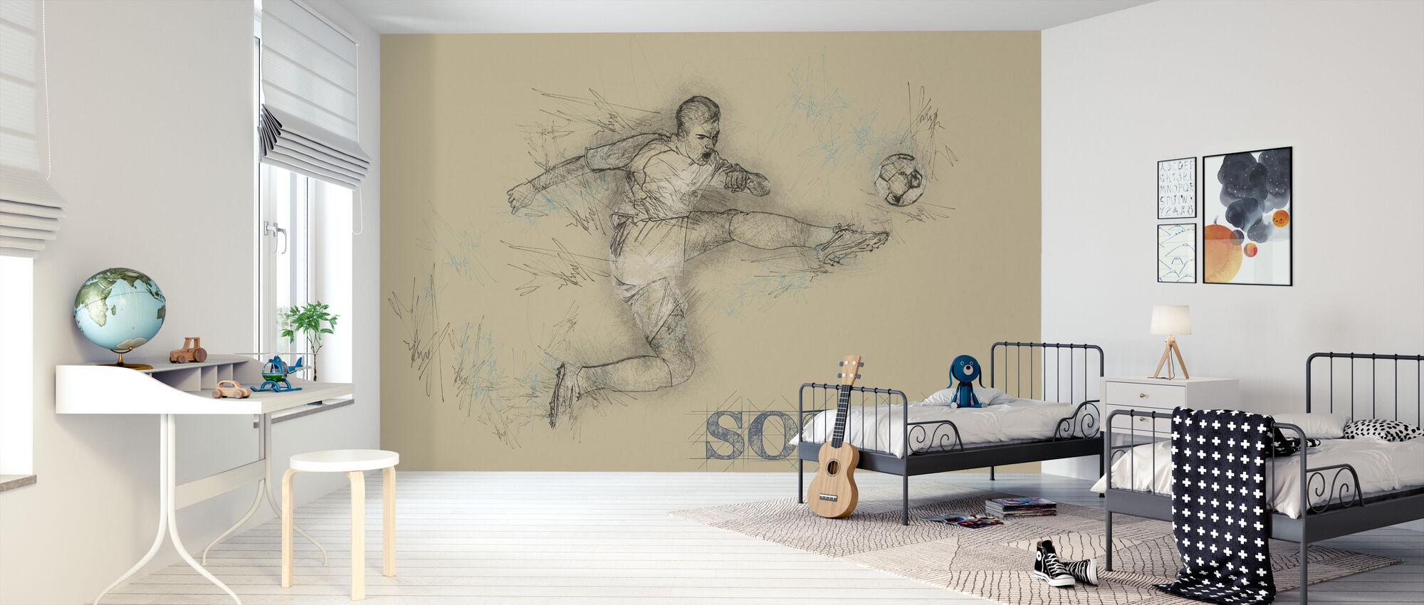 Fotball - Tapet - Barnerom