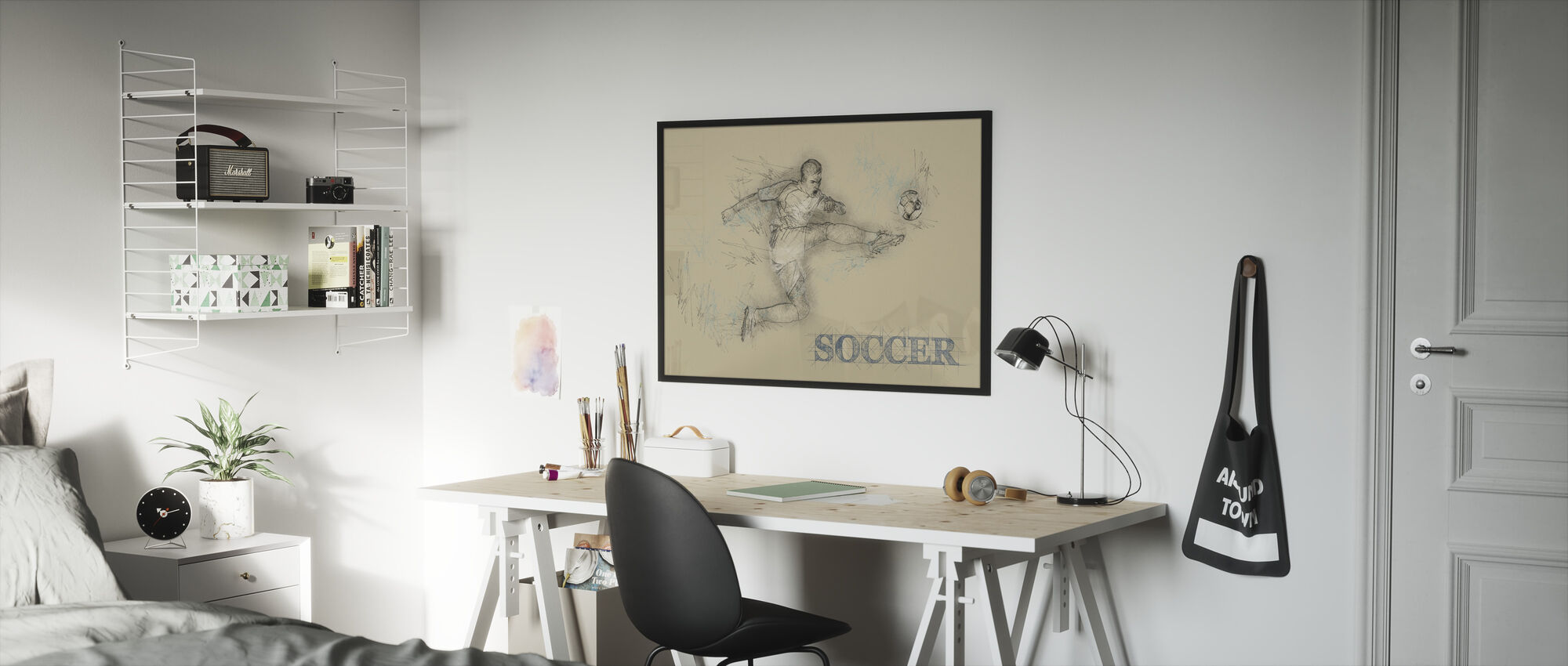 Soccer - Framed print - Kids Room