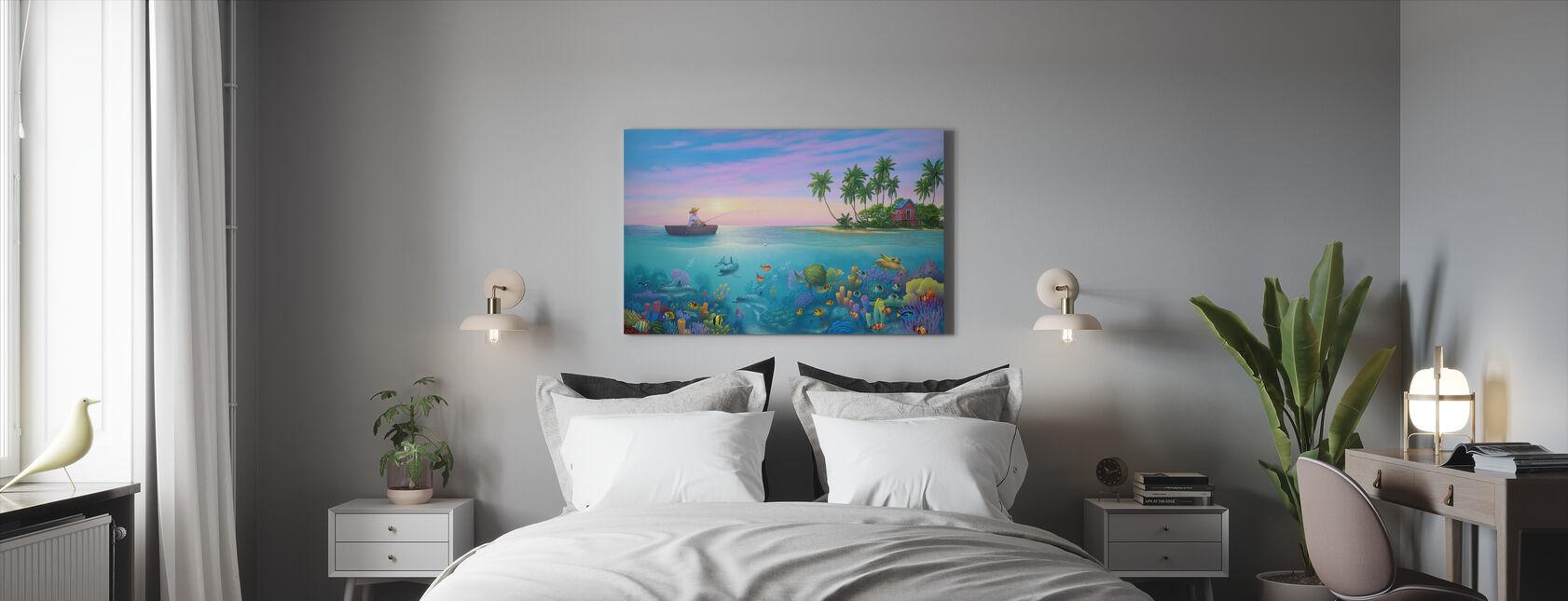 Fiske i Paradise - Lerretsbilde - Soverom