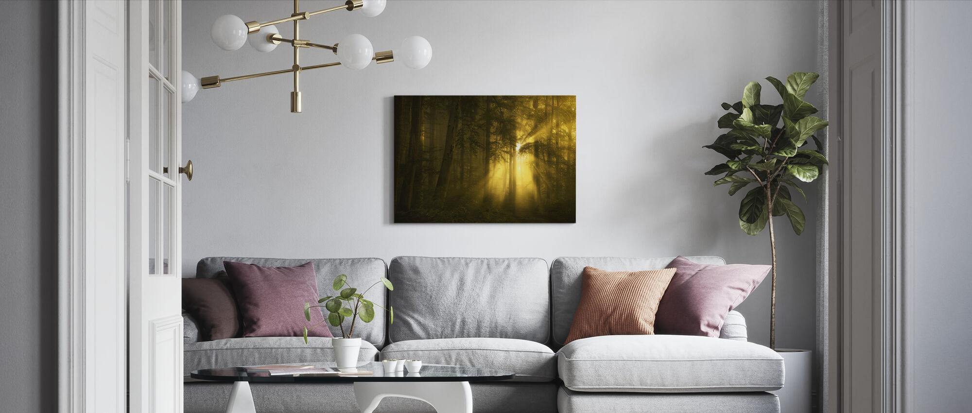 Keltainen metsä - Canvastaulu - Olohuone