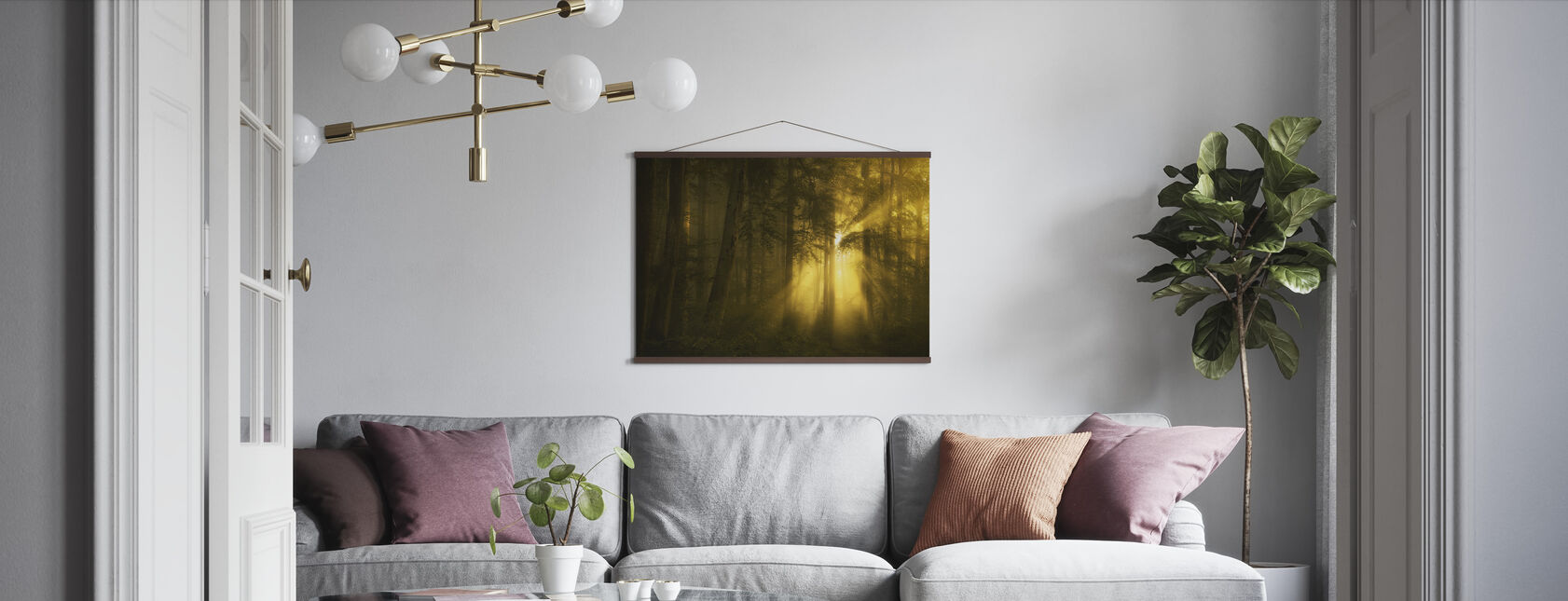 Yellow Woods - Poster - Living Room