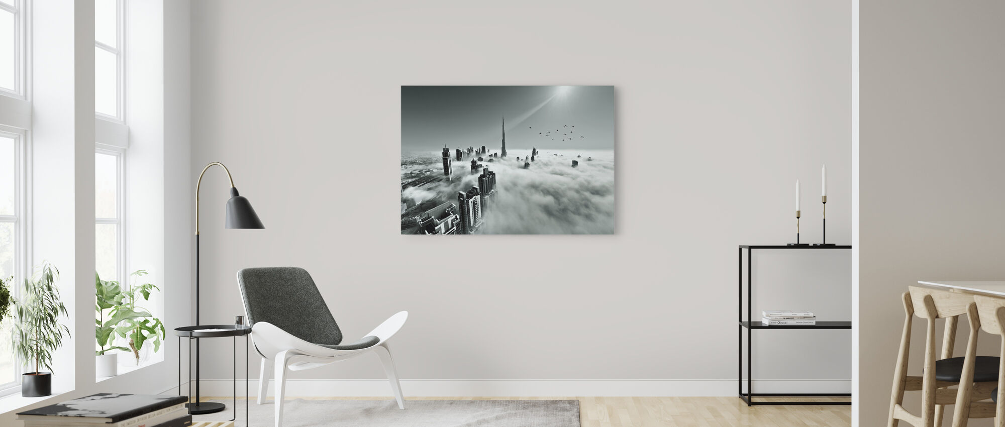 Up up and Above - Canvas print - Living Room