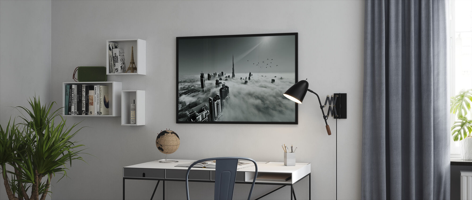 Up up and Above - Framed print - Office