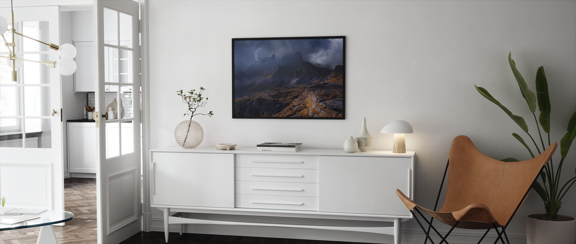 Mountain weather - Framed print - Living Room