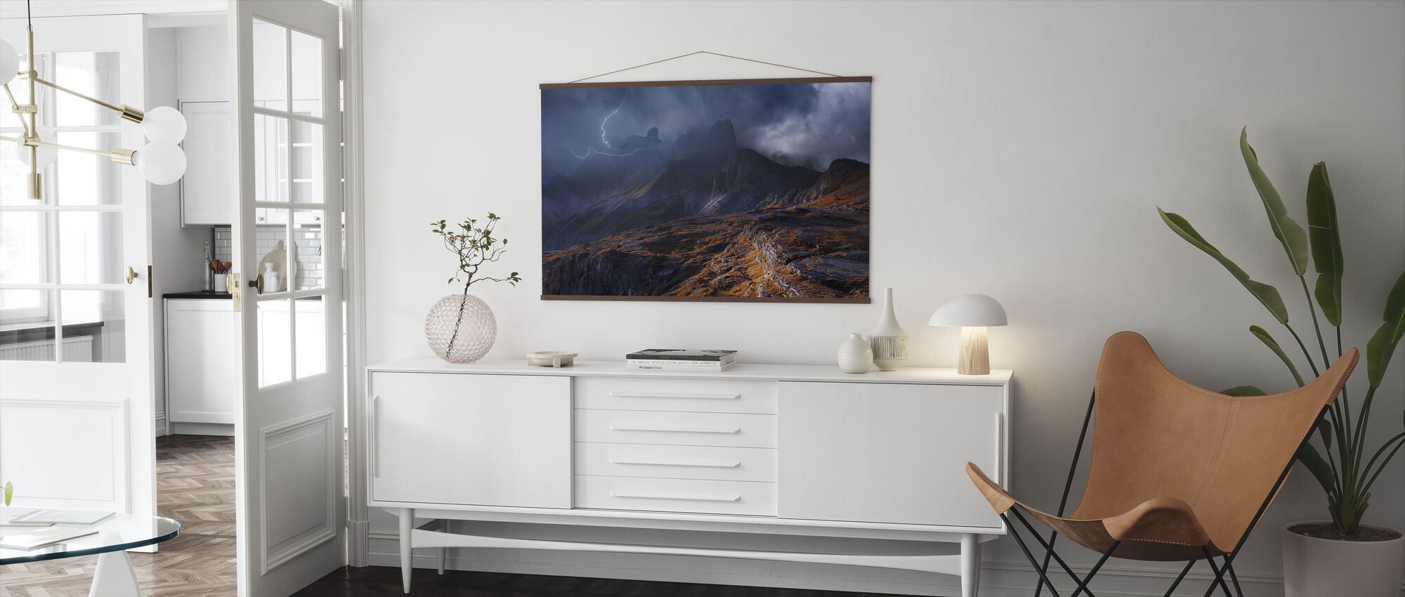 Mountain weather - Poster - Living Room