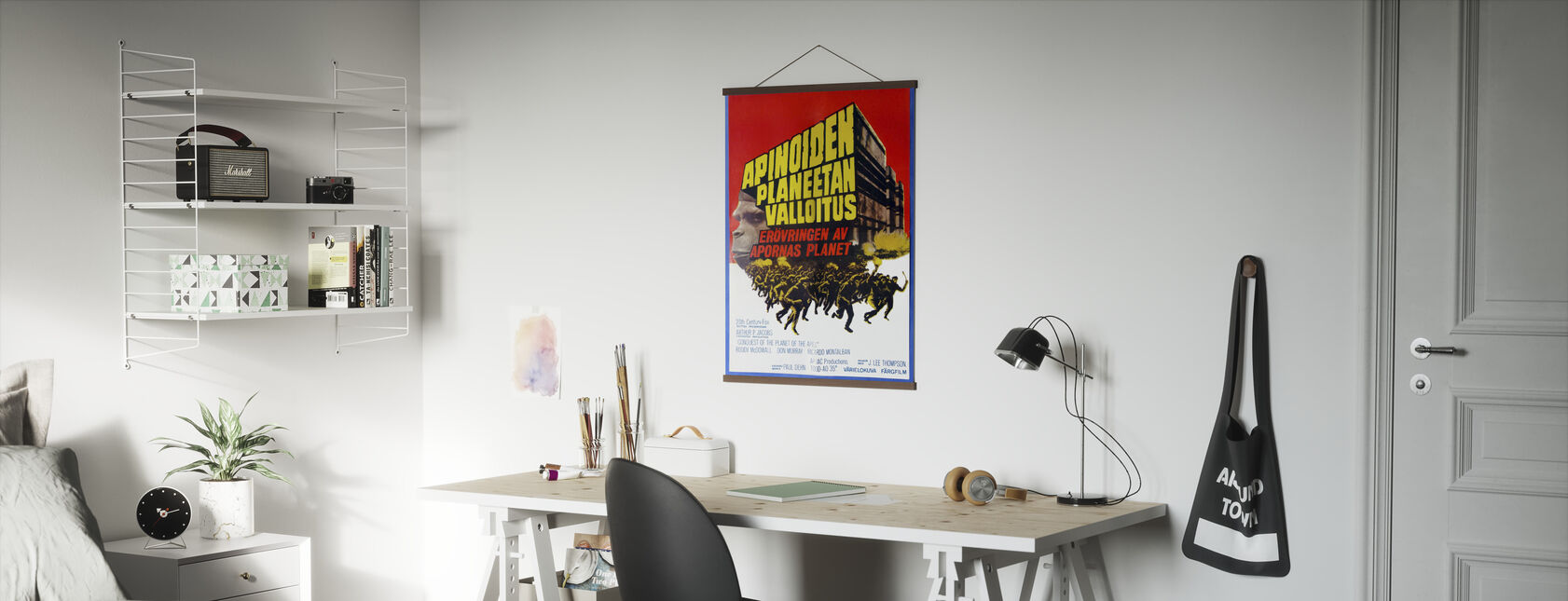 Conquest of the Planet of the Apes - Finnish Movie Poster - Poster - Office