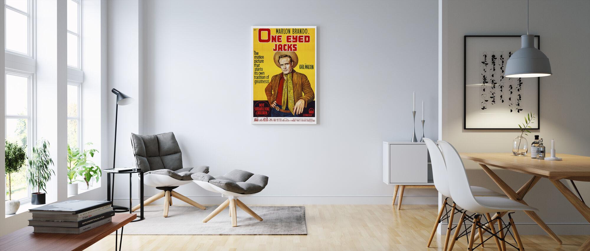 movie poster one eyed jacks impression sur toile de grande qualit photowall. Black Bedroom Furniture Sets. Home Design Ideas