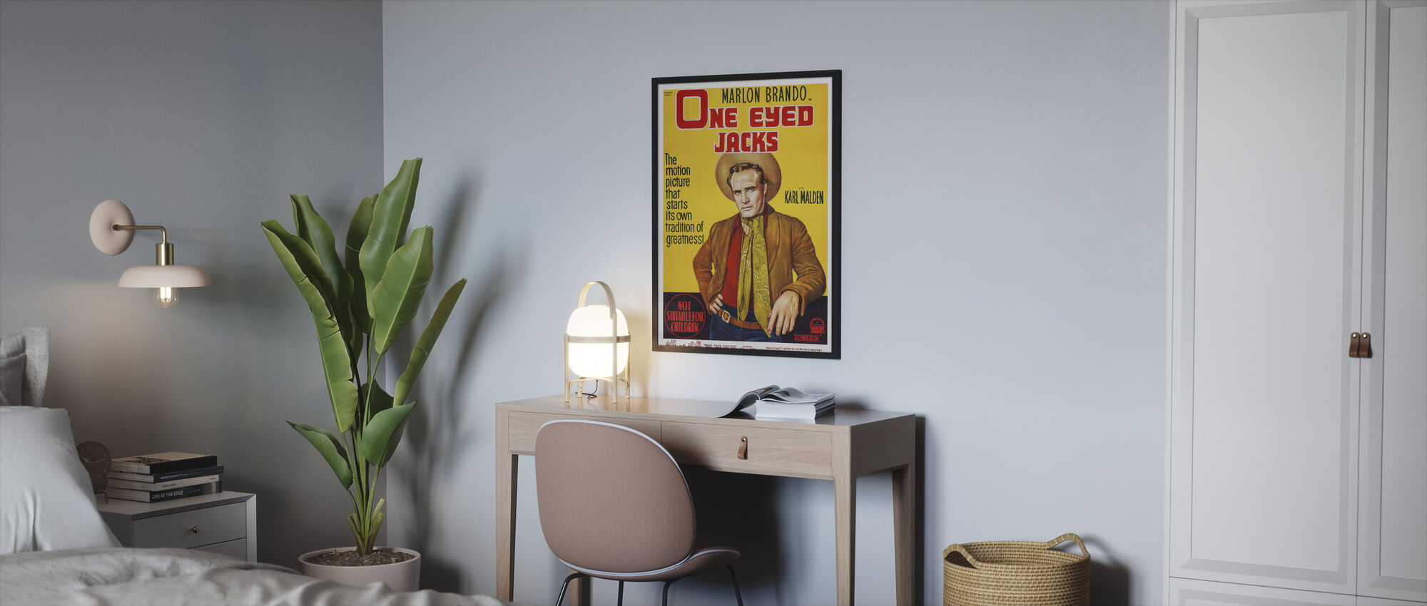 Film Poster een Eyed Jacks - Ingelijste print - Slaapkamer