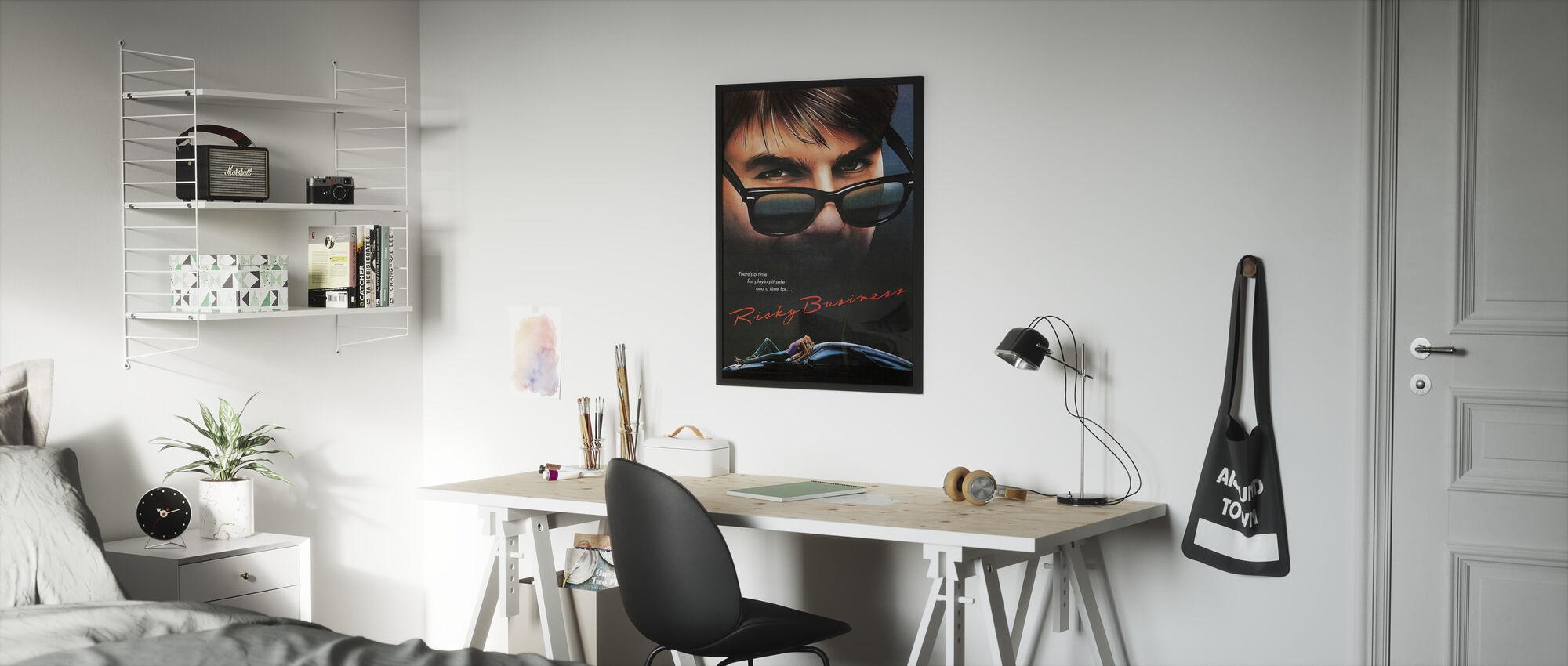 Film Poster Risky Business - Ingelijste print - Kinderkamer