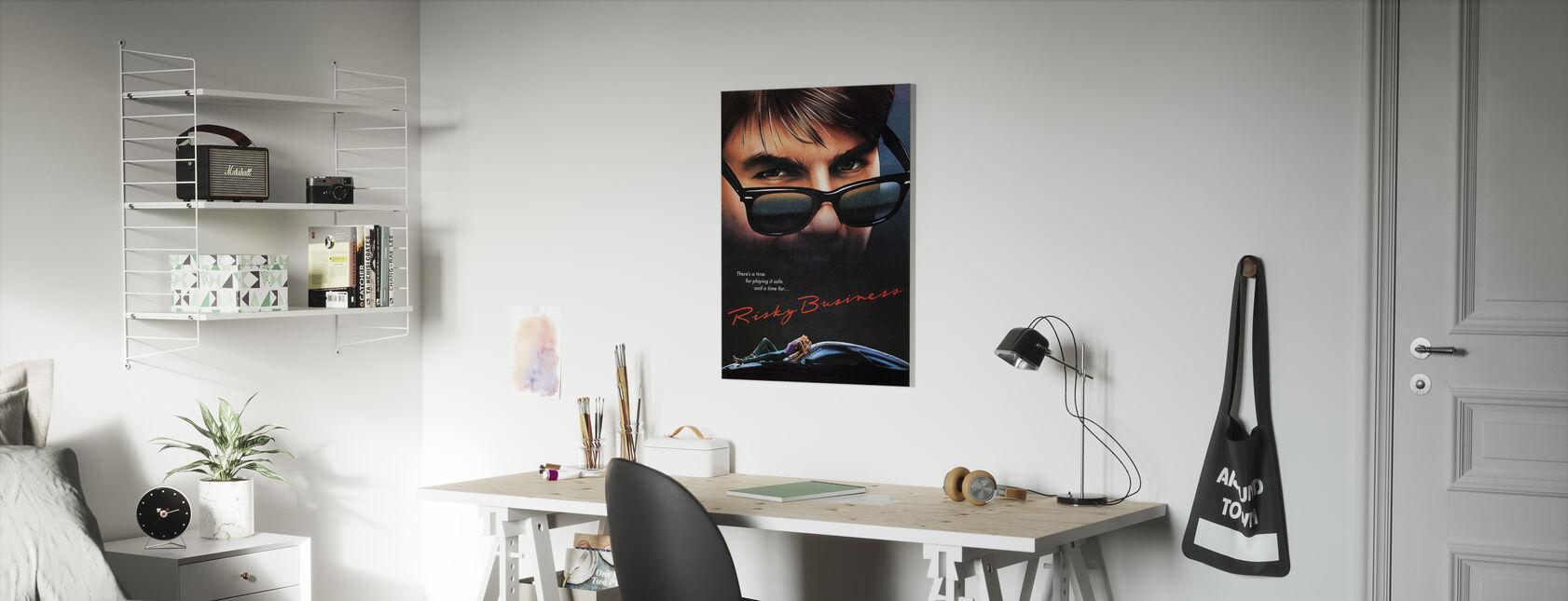 Film Poster Risky Business - Canvas print - Kinderkamer